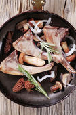 Lamb chops and mushroom — Stock Photo