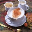 Hot milk with nutmeg  — Stock Photo