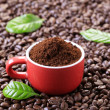 Ground coffee — Stockfoto