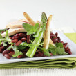 Chicken breast with red beans and arugula — Stock Photo #24522953