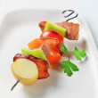 Pork skewer - Foto Stock