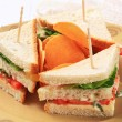 Vegetable Sandwiches and crisps — Stock Photo #24993977