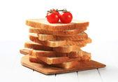 Pile of sliced sandwich bread — Stock Photo