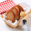 Pan fried bread — Stock Photo