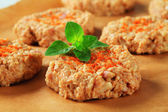 Raw vegetable patties — Stock Photo