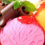 Ice cream sundae — Stock Photo