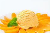 Fruit ice cream — Stock Photo