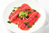 Beef Carpaccio — Stock Photo