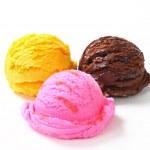 Three scoops of ice cream — Stock Photo #26090905