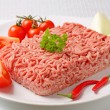 Raw ground pork and vegetables — Stock Photo #26338137