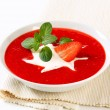 Stock Photo: Cold strawberry soup