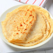 Stock Photo: Stack of crepes on plate