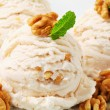 Walnut ice cream — Stock Photo