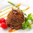 Chocolate ice cream with caramel — Foto de Stock