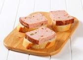 Leberkase sandwiches — Stock Photo
