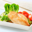 Chicken breast fillet with vegetables — Stock Photo