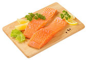 Raw salmon fillets — Stock Photo