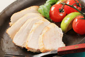 Pan seared chicken breast fillet — Stock Photo
