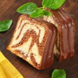 Marble pound cake — Stock Photo