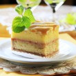 Liquor soaked cake — Foto Stock