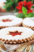 Jam shortbread cookies — Stock Photo