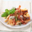 Stock Photo: Pfried fish fillets with fries