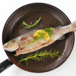 Stock Photo: Grilled trout