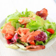 Salmon salad — Stock Photo