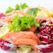 Smoked trout salad — Stock Photo