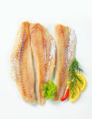 Whitefish fillets — Stock Photo