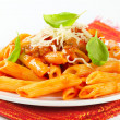 Penne with meat tomato sauce — Stock Photo #29634913