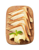 Toasted bread and butter — Stock Photo