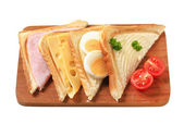 Toasted sandwiches — Stock Photo