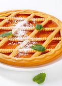 Galler toppade aprikos crostata — Stockfoto