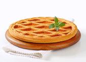 Linzer apricot tart — Stock Photo