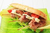 Kofta sandwich — Stock Photo