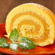 Stock Photo: Peanut Swiss Roll