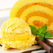 Swiss Roll with yellow sherbet — Stock Photo #30463221