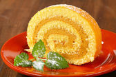 Peanut Swiss Roll — Stock Photo