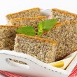 poppy seed cake&quot — Stock Photo