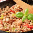 Stock Photo: Ground meat stir fry