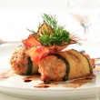 Minced meat wrapped in zucchini — Stock Photo #30606113