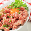 Fresh ground meat — Stock Photo