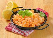 Pan fried shrimps — Stock Photo