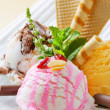 Ice cream dessert — Stock Photo