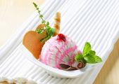 Dessert di gelato — Foto Stock