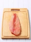 Frozen fish fillet — Stock Photo
