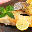 Oven roasted carp fillet — Stock Photo