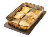 Oven baked carp fillets — Stock Photo