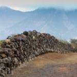 Dry stone wall — Stock Photo